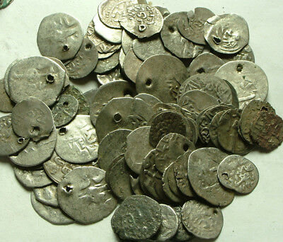 Lot 3 original Islamic silver akce coins/Ottoman Empire Not cleaned You identify