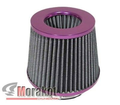 """[Purple] Universal 4""""Inch High Flow Cold Air Short Ram Intake Dry Cone Filter"""