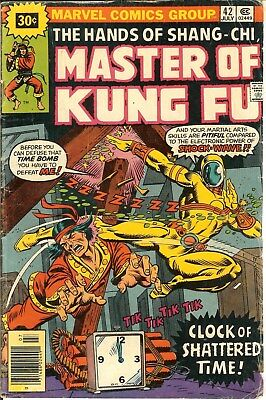 Master of Kung Fu #42  VG-  1976  30 cent price variant