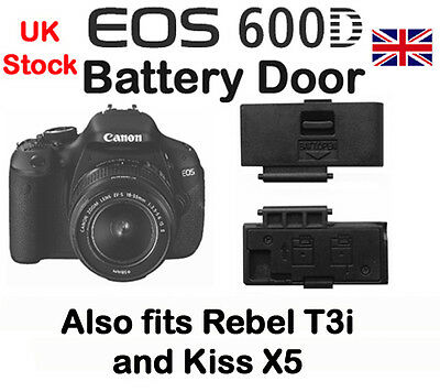 Battery Door cover for Canon EOS 600D, T3i, &  Kiss X5  NEW