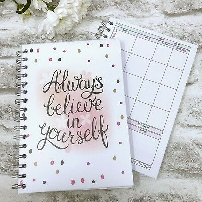 FOOD DIARY Diet Journal SLIMMING WORLD Compatible Diary C - Always Believe + PEN
