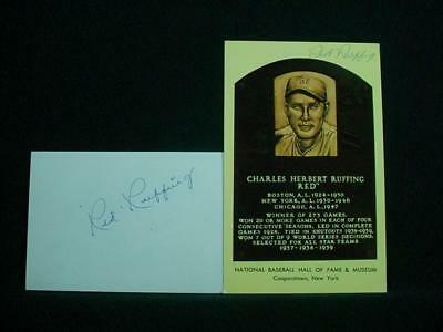 NobleSpirit NO RESERVE {3970} Terrific Pair of MLB Pitcher Red Ruffing Autograph
