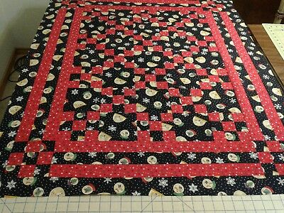 """Quilt Top Unfinished """"Xmas Globes"""""""