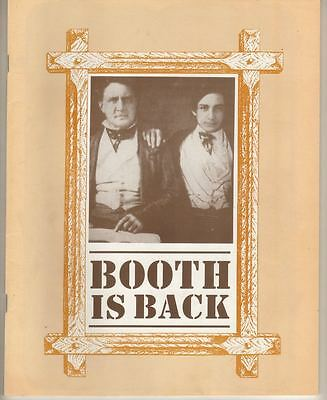 "Frank Langella  ""Booth Is Back""  Playbill  1991  Long Wharf Theatre"