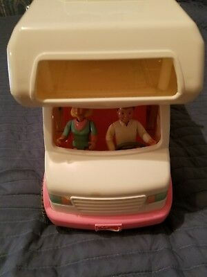 Fisher Price Dream Dollhouse Loving Family Vacation Camper RV Motor Home 1998