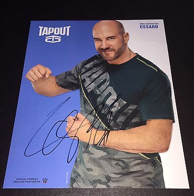 WWE Cesaro Hand Signed Tapout Promo Photo