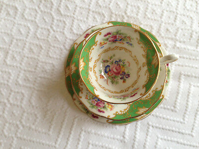 Royal Albert - Bone China - Albany green cup,saucer and plate -
