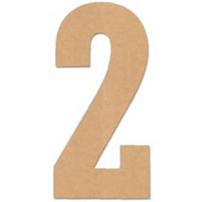"""Baltic Birch Collegiate Font Letters & Numbers 13.5""""-Number 2"""