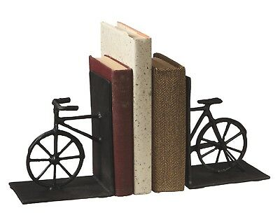 Cast Iron Vintage Bicycle Shaped 10.5 Inch Bookends