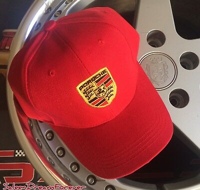 Porsche Embroidered Hat Carrera Gt 911 Sc Targa Turbo Cayman 918 Spyder Boxster