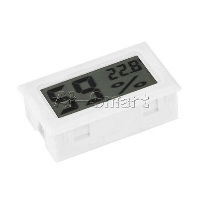 White Mini Digital LCD Thermometer Hygrometer Humidity Temperature Meter Indoor