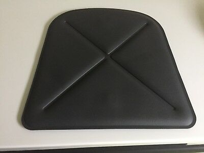 Tolix Brand France Faux Leather Magnetic Seat Pad Cushion Gray Free Shipping