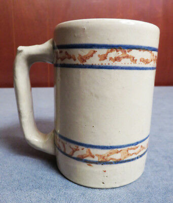 Rare Red Wing Gray Line Stoneware Mug, Guaranteed Old And Authentic!