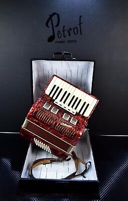 German Vintage Top Piano Accordion Weltmeister 40 Bass, 5 Reg.+Case@petrof Store