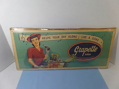 Vintage Grapette Soda Advertising Poster Sign By E.l.gilchrist