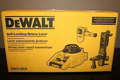 NEW DeWalt Self-Leveling Interior and Exterior Rotary Laser Level Kit DW074KD