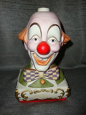 EZRA BROOKS Clown SMILEY Liquor Porcelain Decanter Bottle 1978 #4983