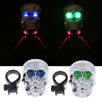 Skull Head Cycling Bicycle MTB Bike Safety Lamp / Laser Tail Light / Rear Light