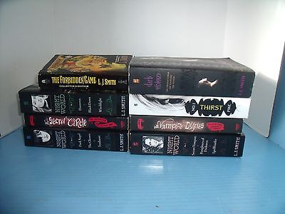 Children's Young Adult Lot Of 8 L.j. Smith Christopher Pike*night World*vampire
