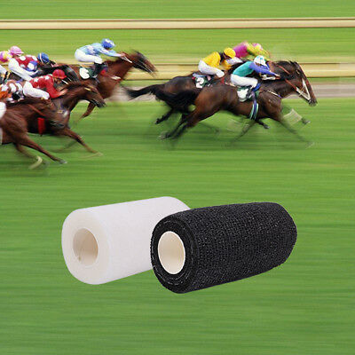 40 X BANDAGES COHESIVE  HORSES PETS 10cmx4.5mt BLACK and WHITE