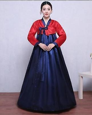 Korean Women Hanbok Ancient Traditional Dress Stage Costume Cosplay Ball Gown sz