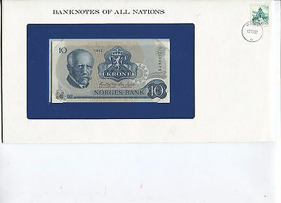 Norway 10 Kroner Note Banknotes of All Nations Limited Editon