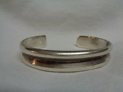 Navajo Cast Ingot Bracelet Circa 1900 Early Old Pawn Antique 37 grams