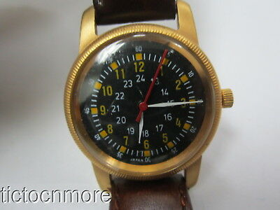 Vintage Post-Wwii Us Army Ord Type A-D Black Dial Zulu 24 Hr Military Watch