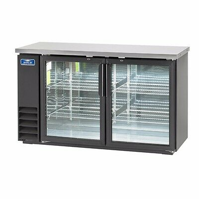 Back Bar Refrigerator, two-section, LED lighted, NSF, Arctic Air ABB60G