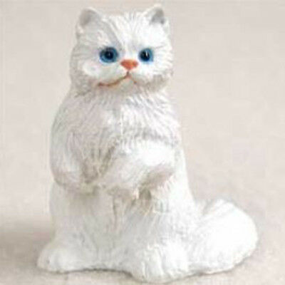 Persian White Cat TINY ONES Figurine Statue Pet Resin