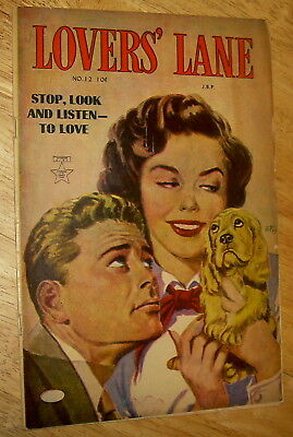 LOVER'S LANE comics #12 scarce pre-code Romance painted cover Canadian edition