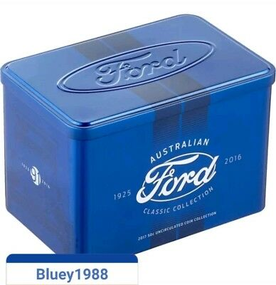 2017 Ford 50 Cent Coin Australian Classic Collection Empty Tin No Rare Coins ✔