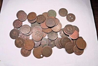 (50) Mixed 1800's Large Cent Lot // 50 Coins // (LCL10)