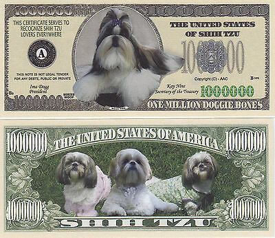 Shih Tzu K-9 Shihtzu Dog Novelty Money Bill # 283