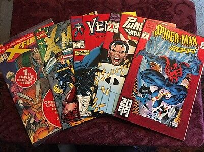Lot Of 5/Venom LethalPro1 ,Spiderman2099#1,Punisher WarZone 1,X-Force 1,X-Men 1*