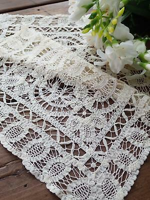 Lovely Antique Battenberg Lace Tray Cloth 17x11