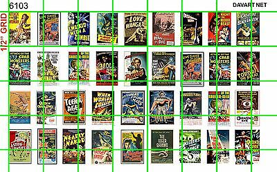 6103 Dave's Decals 1/2 Sheet 1:87 1:72 Scale 1950's & 60's B Movie Poster Sci Fi