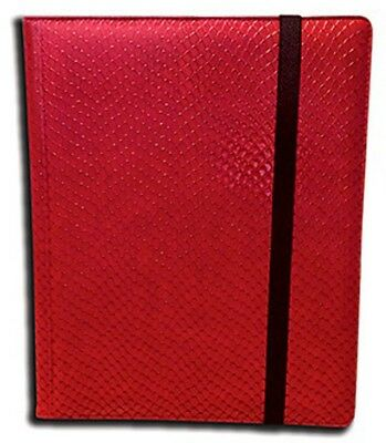 Legion 20 Page Side-Loading Dragon-Hide Textured Binder: Red
