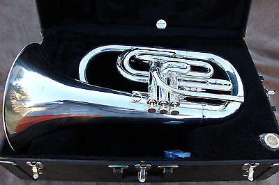 Kanstul Model 295 Bb Marching Euphonium Silver with Case and Mouthpiece