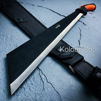 """24"""" HUNTING SURVIVAL Military Bowie FULL TANG MACHETE Fixed Blade Knife SWORD"""