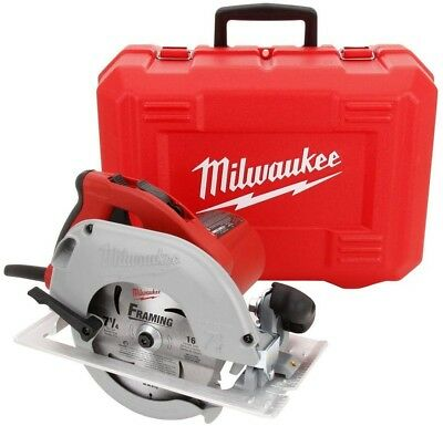 NEW Milwaukee 15 Amp 7-1/4 in. Corded Electric Circular Saw Power Tool WITH CASE