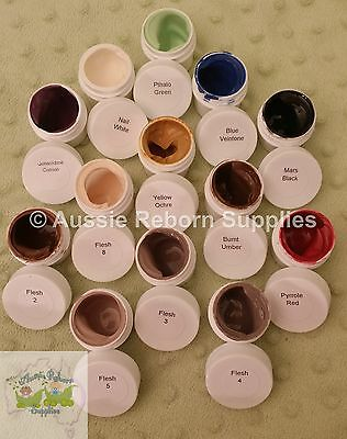 Luminaire Air Dry Paints Biracial AA Ethnic 13 Paint Set for Reborn Baby Doll