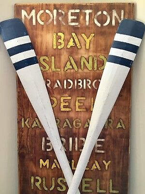 Decorative Nautical Vintage Boat Oars