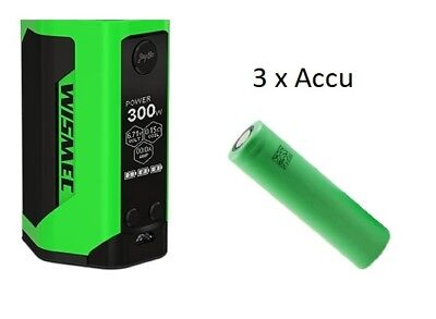 WISMEC REULEAUX RX GEN3 GRIP EASY KIT Green+ 3 x Accu