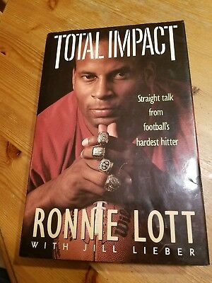 ***Signed** 49ers: Total Impact : Straight Talk by Ronnie Lott Book Collectible