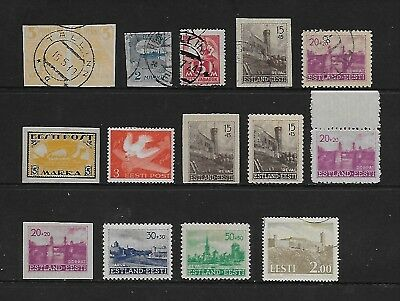 ESTONIA interesting early / mid mint & used group (15)