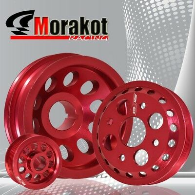 New 350Z Z33 G35 Engine Light-weight Aluminum Underdrive Crank Pulley Kit Red