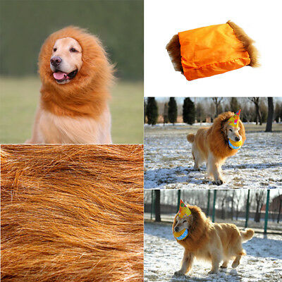 Furry Pet Costume Lion Mane Wig For Cat Dog Halloween Christma Dress Up Party