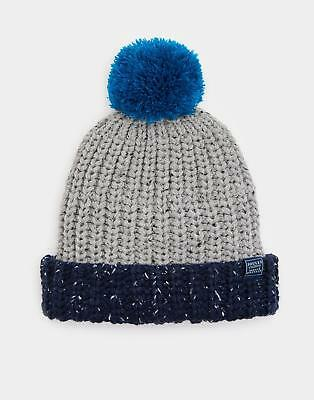 Joules Bobble Hat in Grey Marl