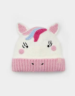 Joules Chum Character Hat in Glitter Unicorn
